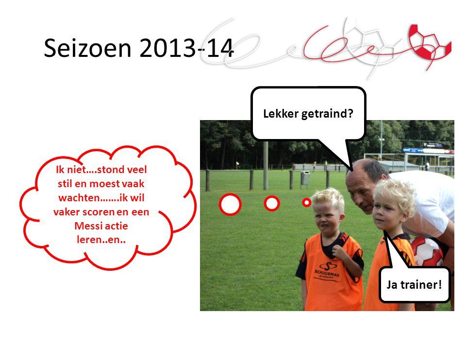 Seizoen 2013-14 Lekker getraind Ja trainer!