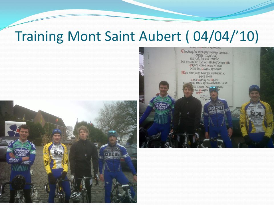 Training Mont Saint Aubert ( 04/04/'10)