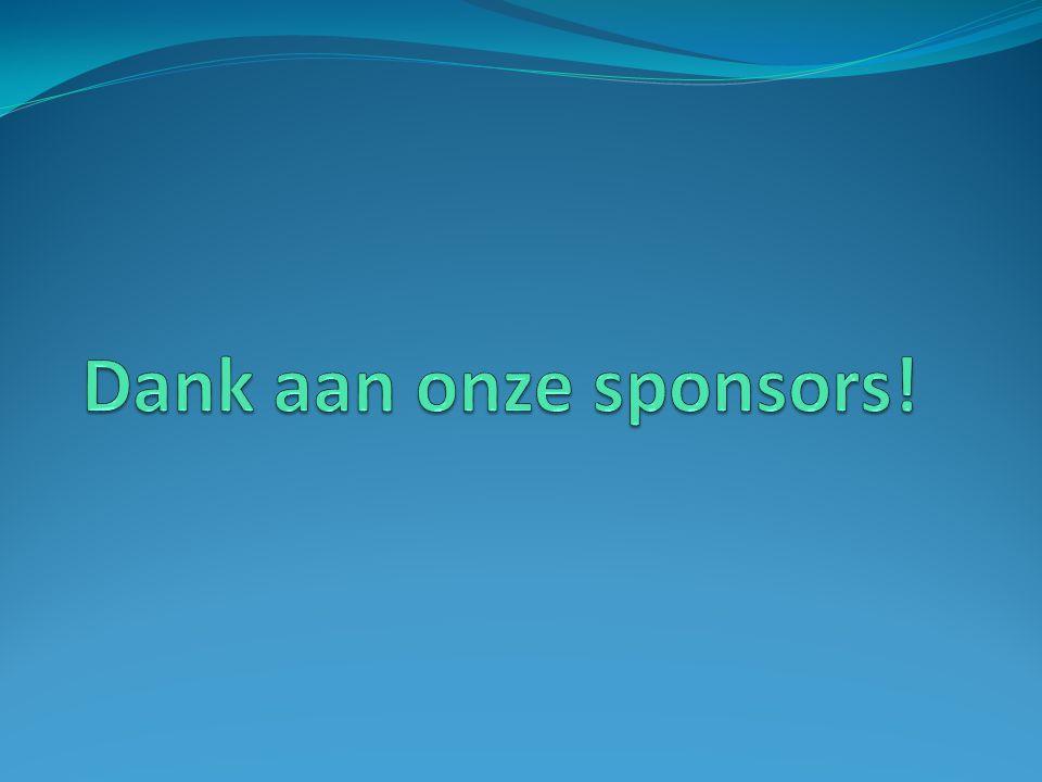 Dank aan onze sponsors!