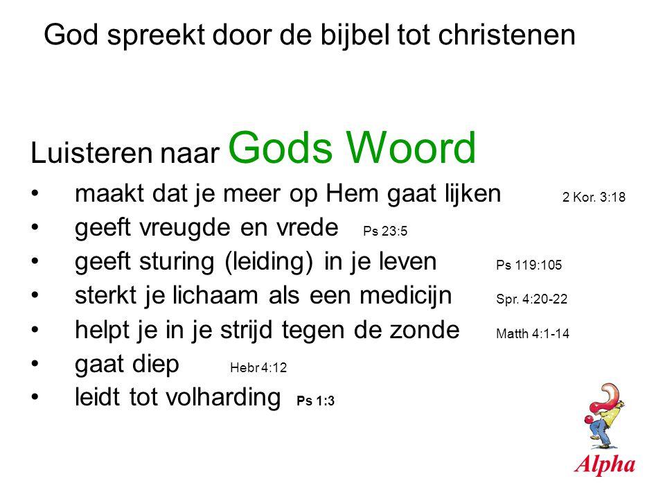 God spreekt door de bijbel tot christenen