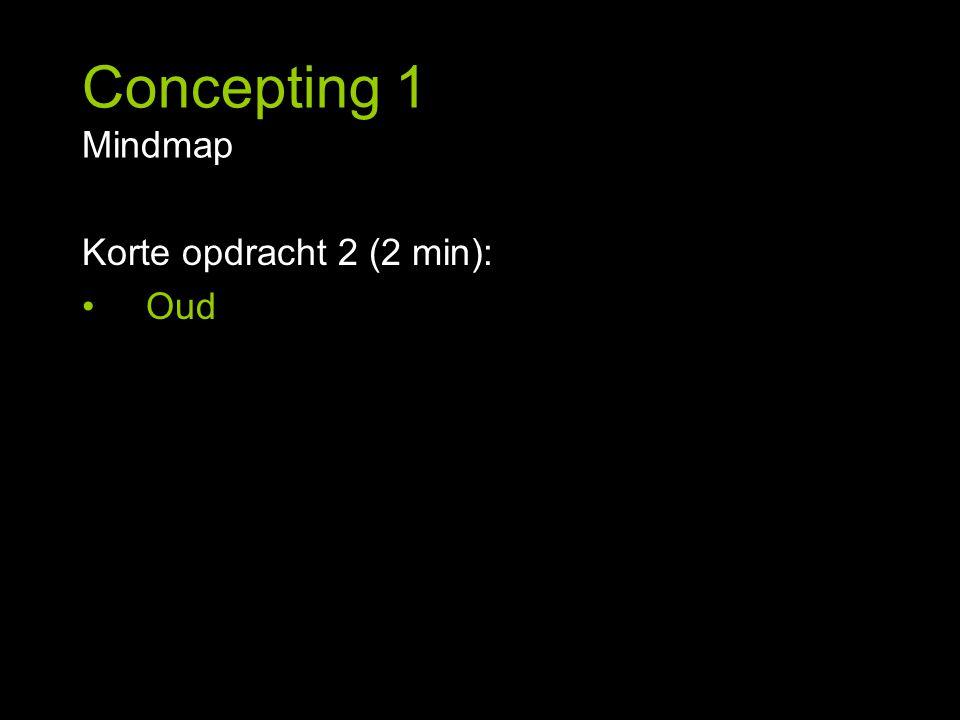Korte opdracht 2 (2 min): Oud