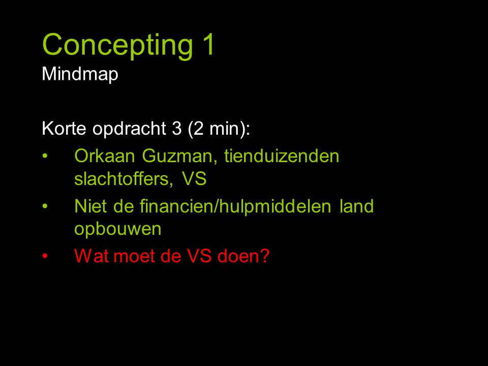 Concepting 1 Mindmap Korte opdracht 3 (2 min):