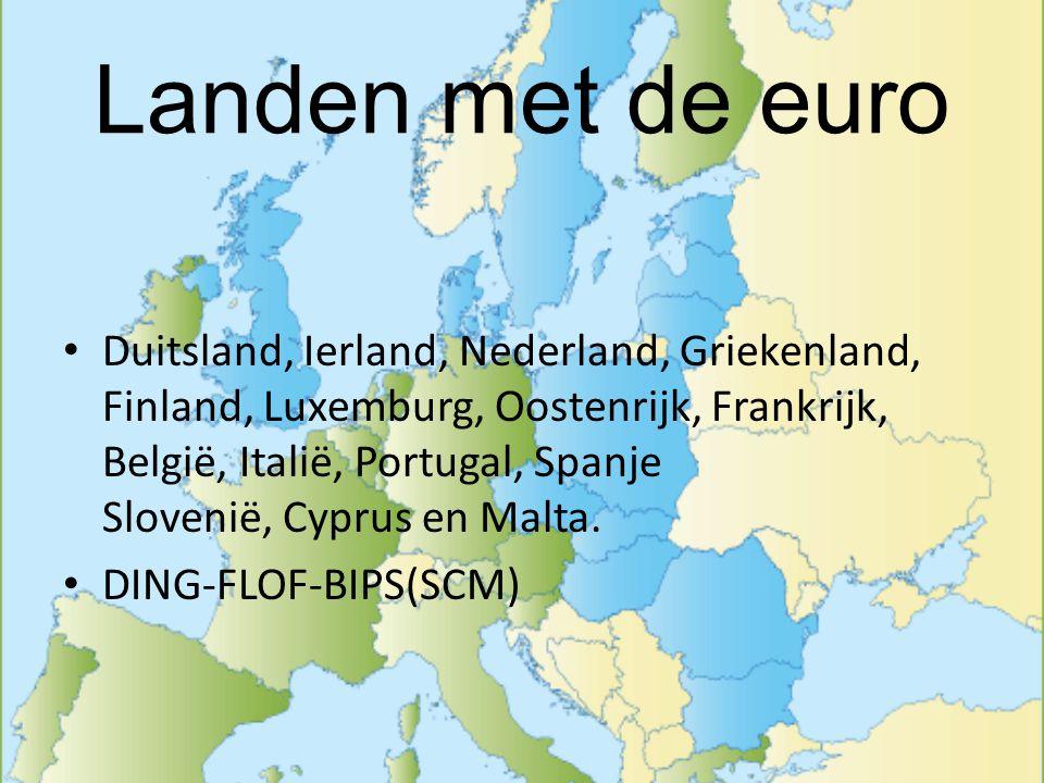 Landen met de euro