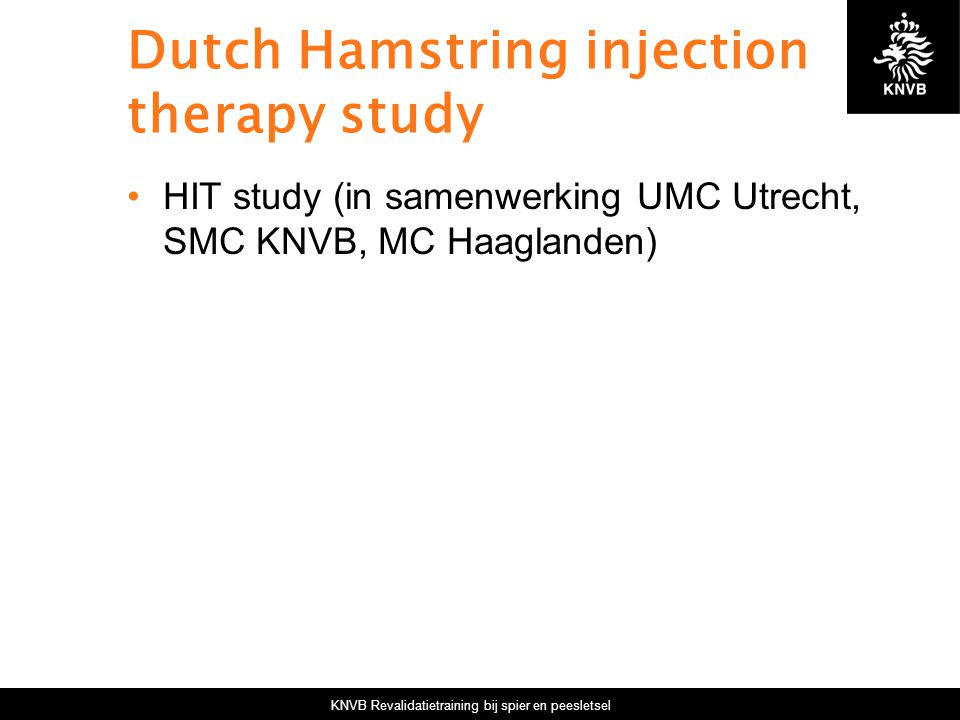 Dutch Hamstring injection therapy study
