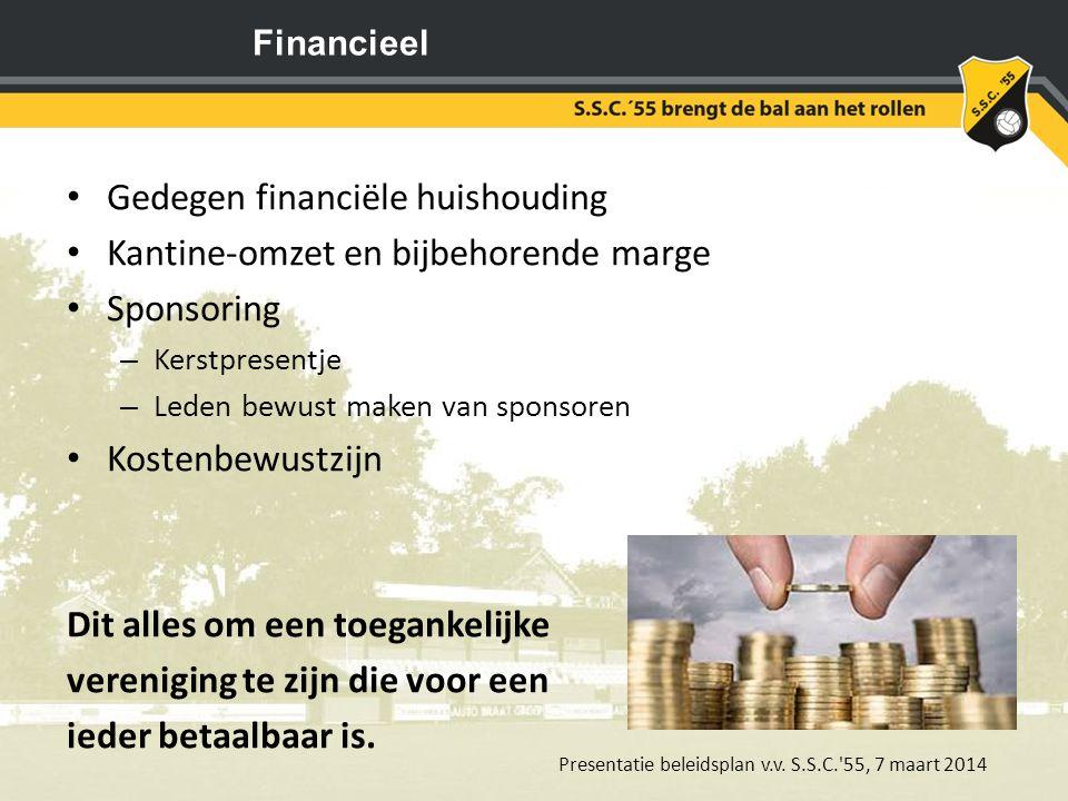 Presentatie beleidsplan v.v. S.S.C. 55, 7 maart 2014