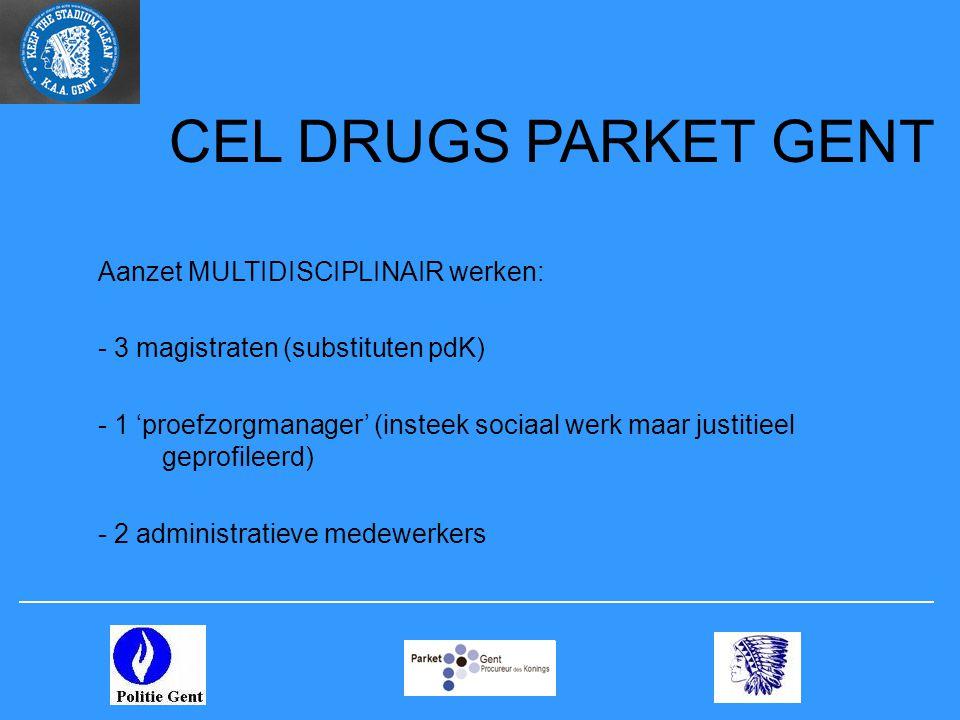 CEL DRUGS PARKET GENT Aanzet MULTIDISCIPLINAIR werken: