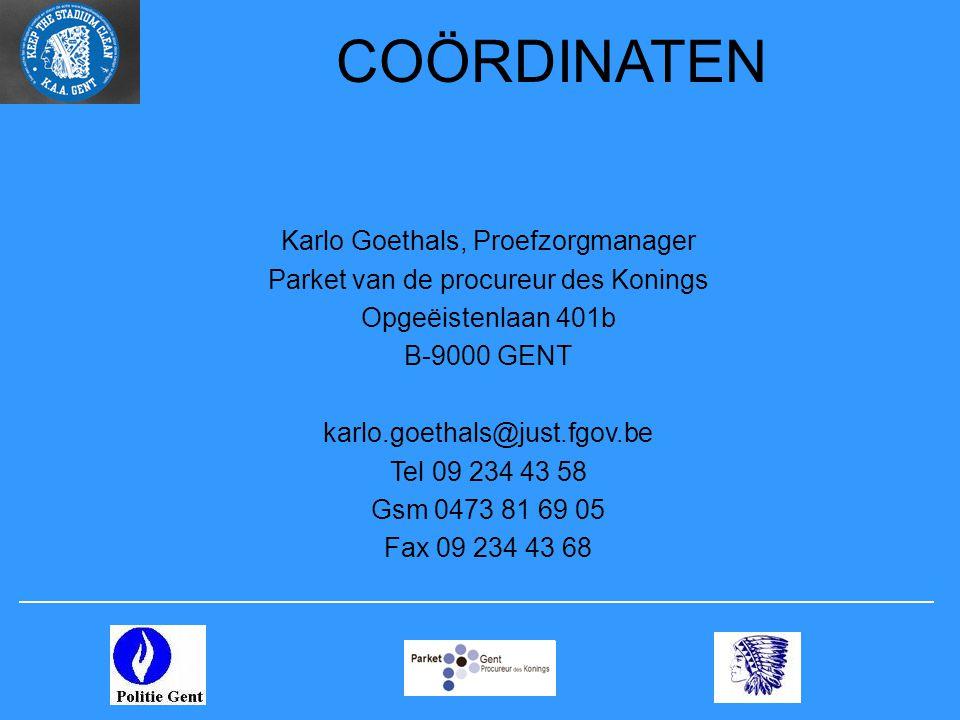 COÖRDINATEN Karlo Goethals, Proefzorgmanager