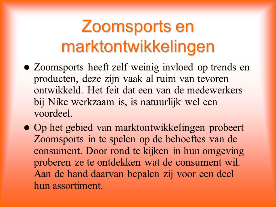 Zoomsports en marktontwikkelingen