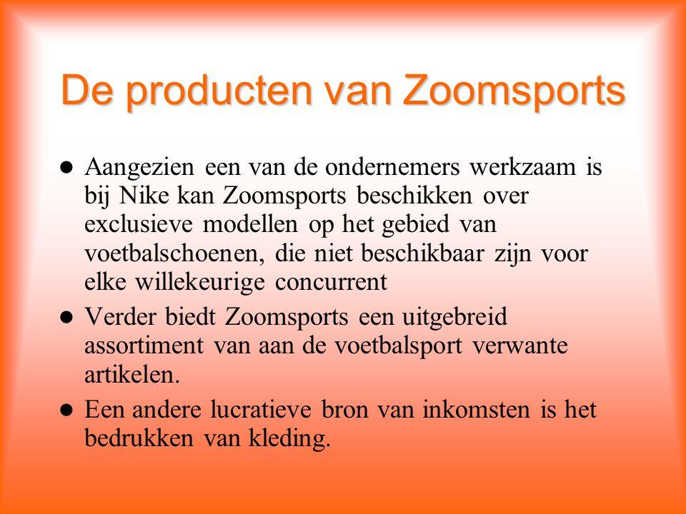 De producten van Zoomsports