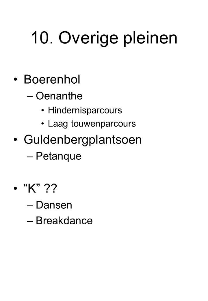10. Overige pleinen Boerenhol Guldenbergplantsoen K Oenanthe