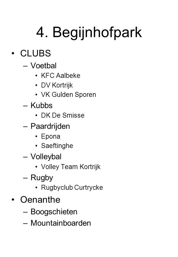 4. Begijnhofpark CLUBS Oenanthe Voetbal Kubbs Paardrijden Volleybal