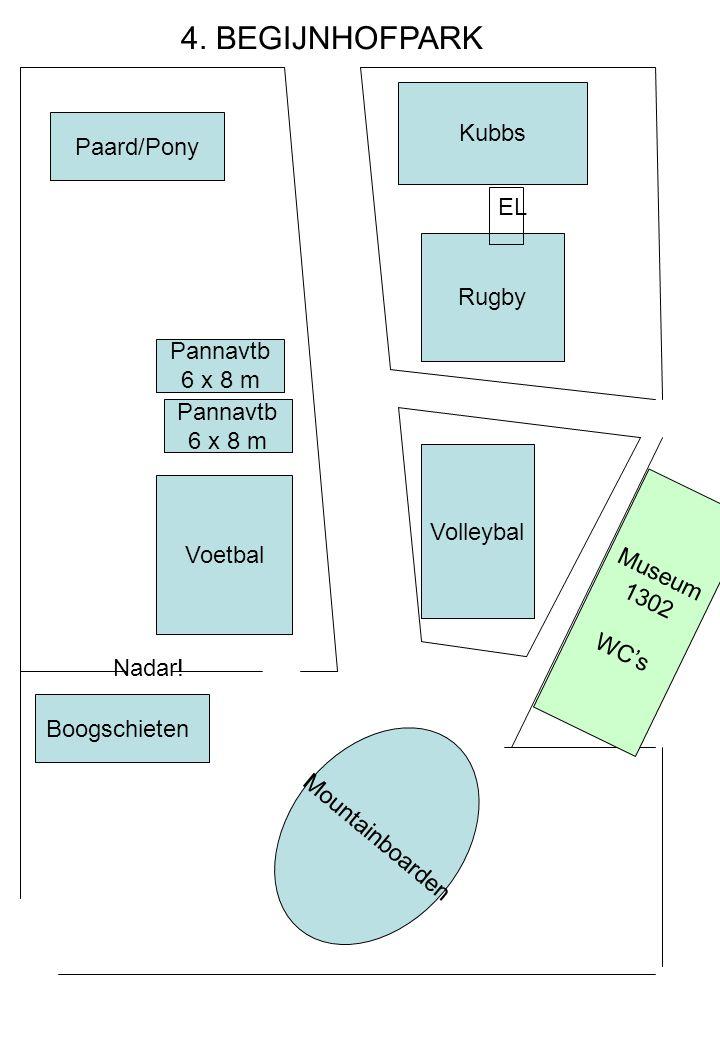 4. BEGIJNHOFPARK Kubbs Paard/Pony EL Rugby Pannavtb 6 x 8 m Pannavtb