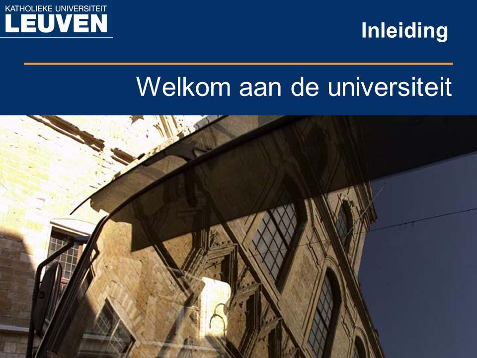 Welkom aan de universiteit