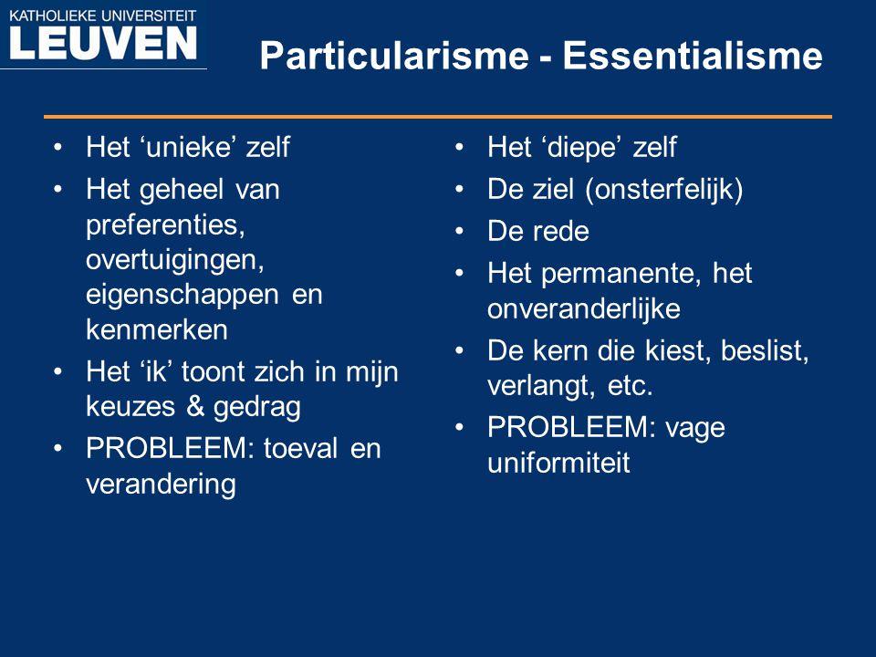Particularisme - Essentialisme
