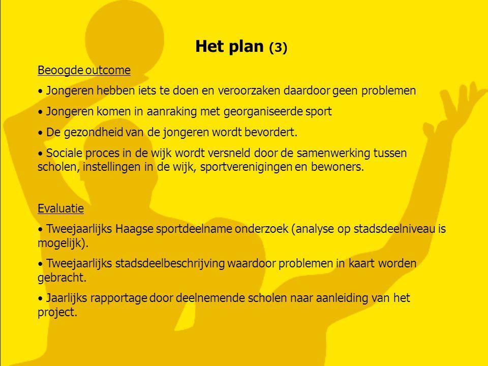 Het plan (3) Beoogde outcome