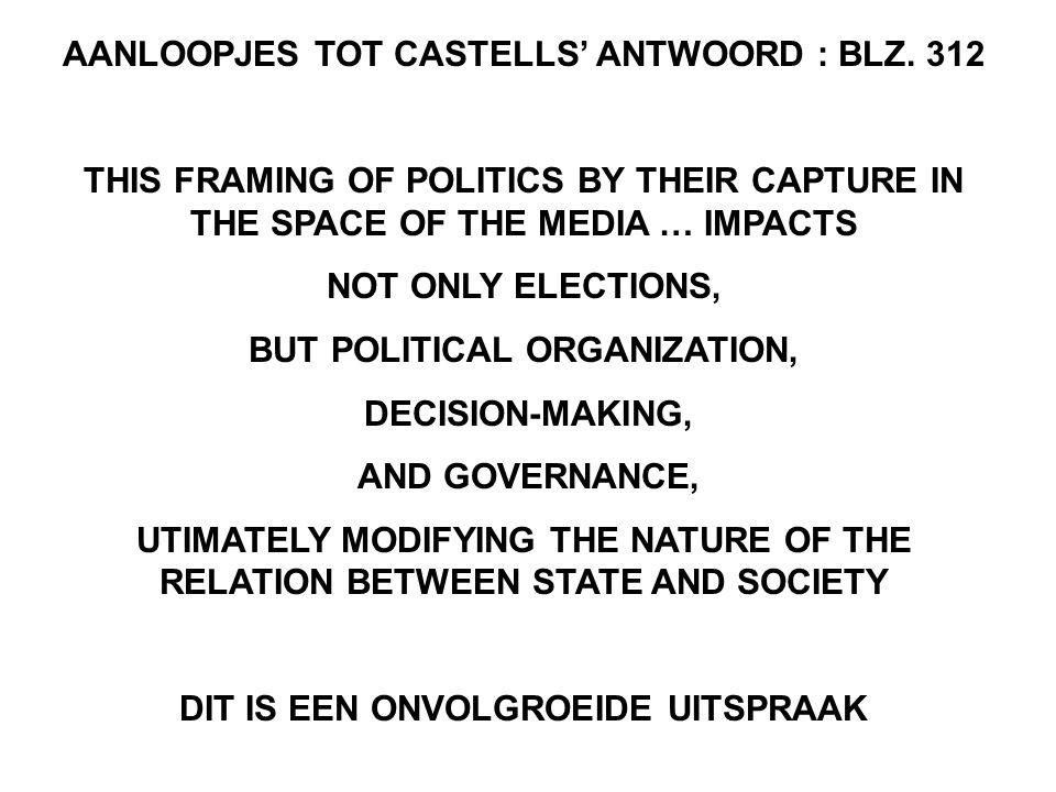 AANLOOPJES TOT CASTELLS' ANTWOORD : BLZ. 312