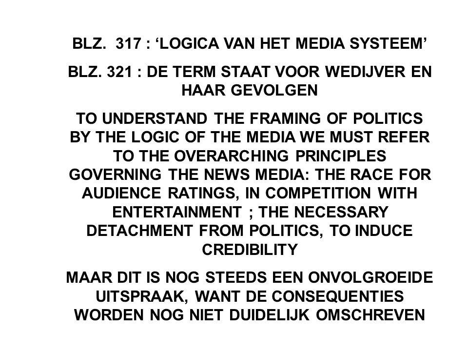 BLZ. 317 : 'LOGICA VAN HET MEDIA SYSTEEM'