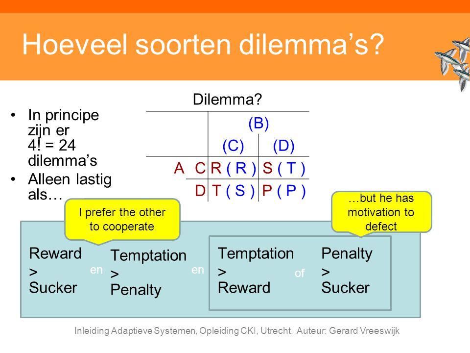 Hoeveel soorten dilemma's