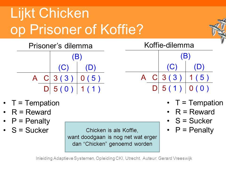 Lijkt Chicken op Prisoner of Koffie