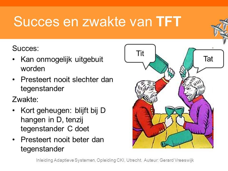Succes en zwakte van TFT