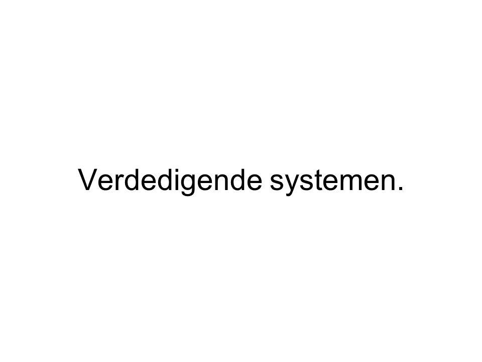 Verdedigende systemen.