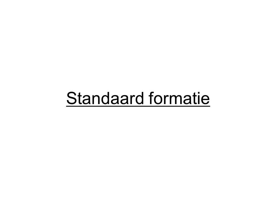 Standaard formatie