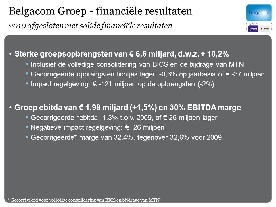 Belgacom Groep - financiële resultaten