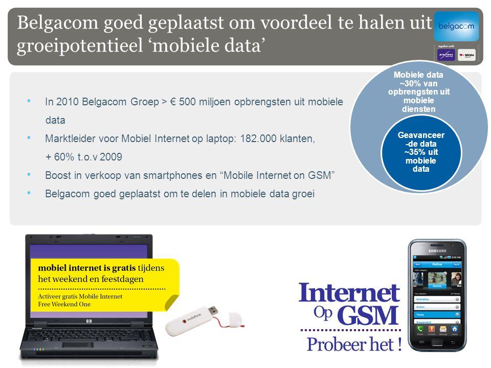 Belgacom goed geplaatst om voordeel te halen uit groeipotentieel 'mobiele data'