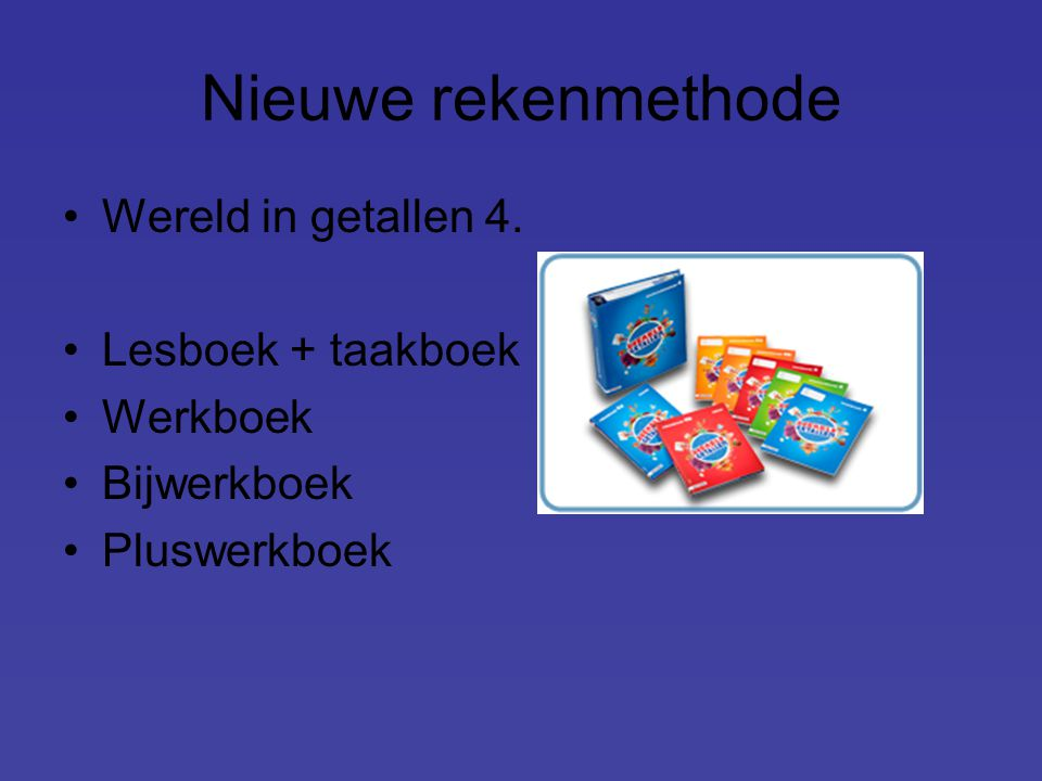 Nieuwe rekenmethode Wereld in getallen 4. Lesboek + taakboek Werkboek