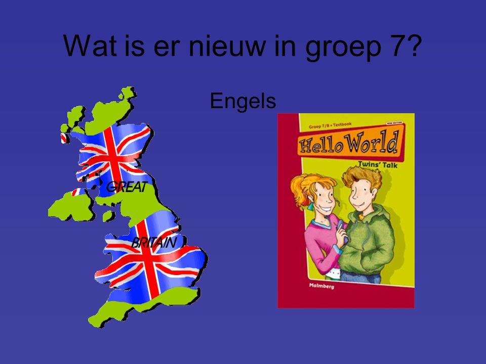 Wat is er nieuw in groep 7 Engels