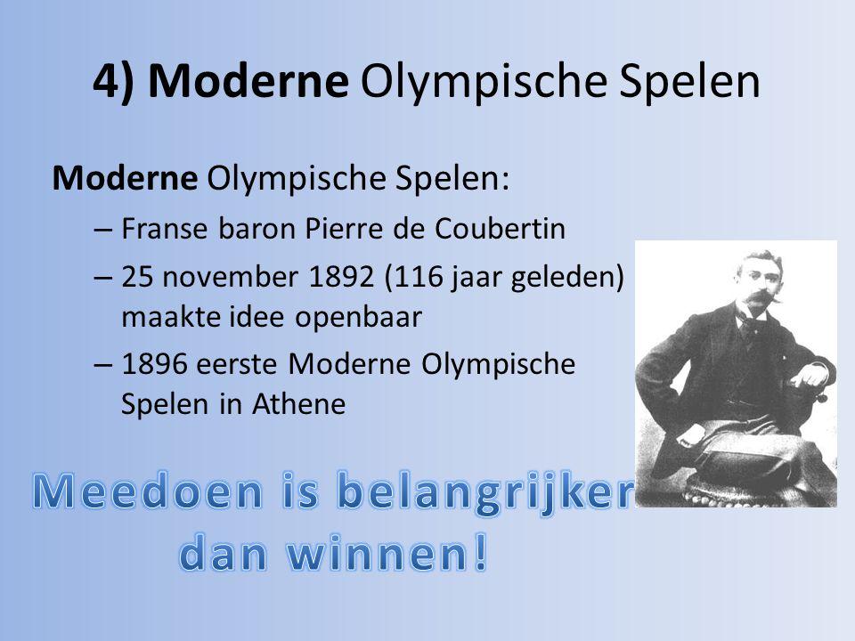 4) Moderne Olympische Spelen