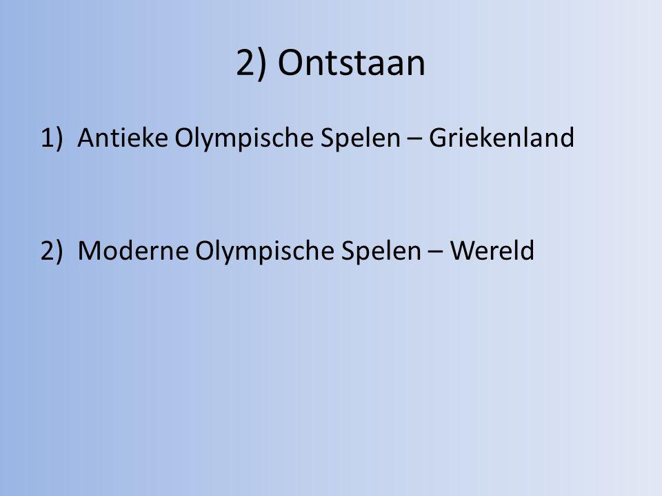 2) Ontstaan Antieke Olympische Spelen – Griekenland