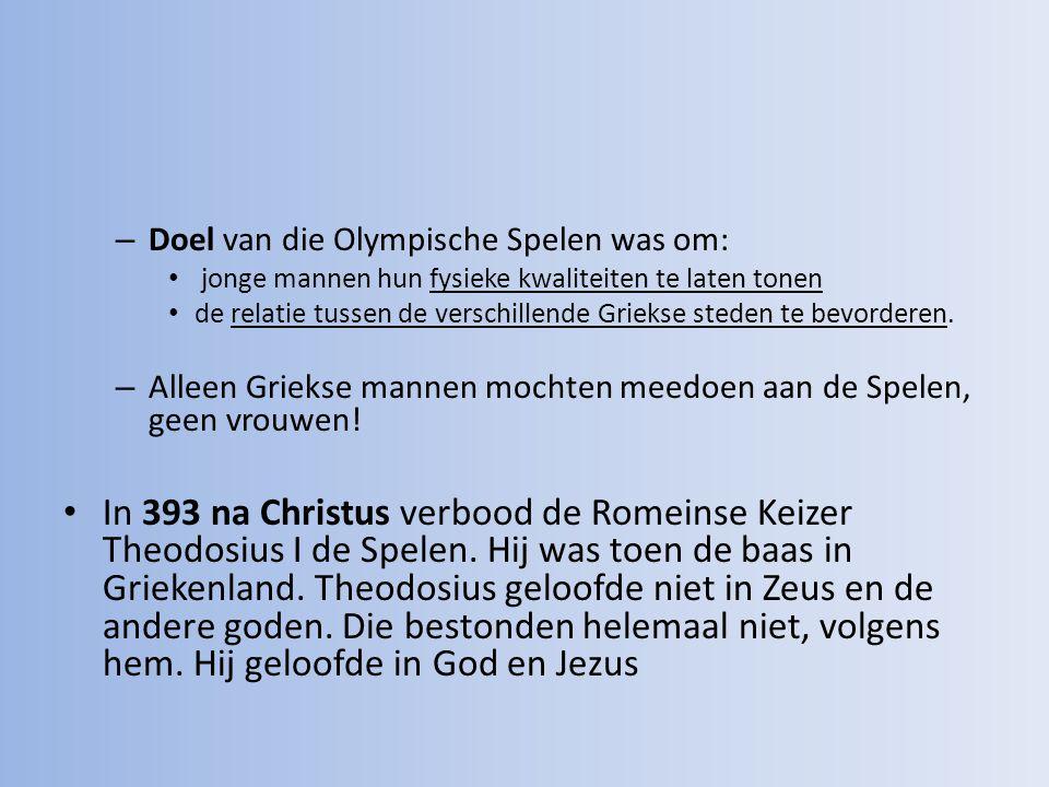 Doel van die Olympische Spelen was om: