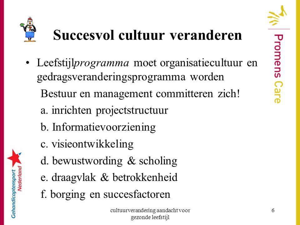 Succesvol cultuur veranderen