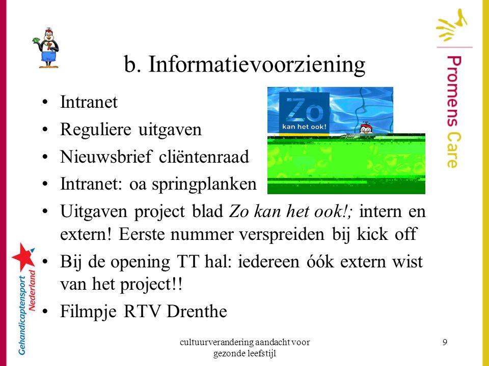 b. Informatievoorziening