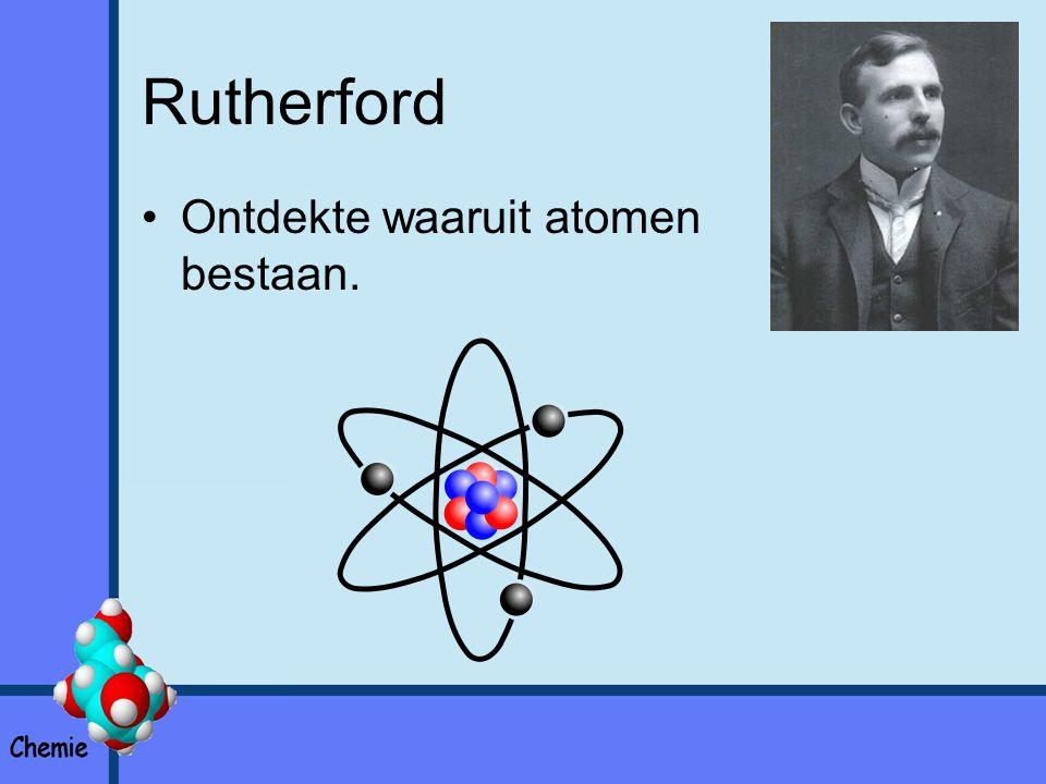 Rutherford Ontdekte waaruit atomen bestaan.