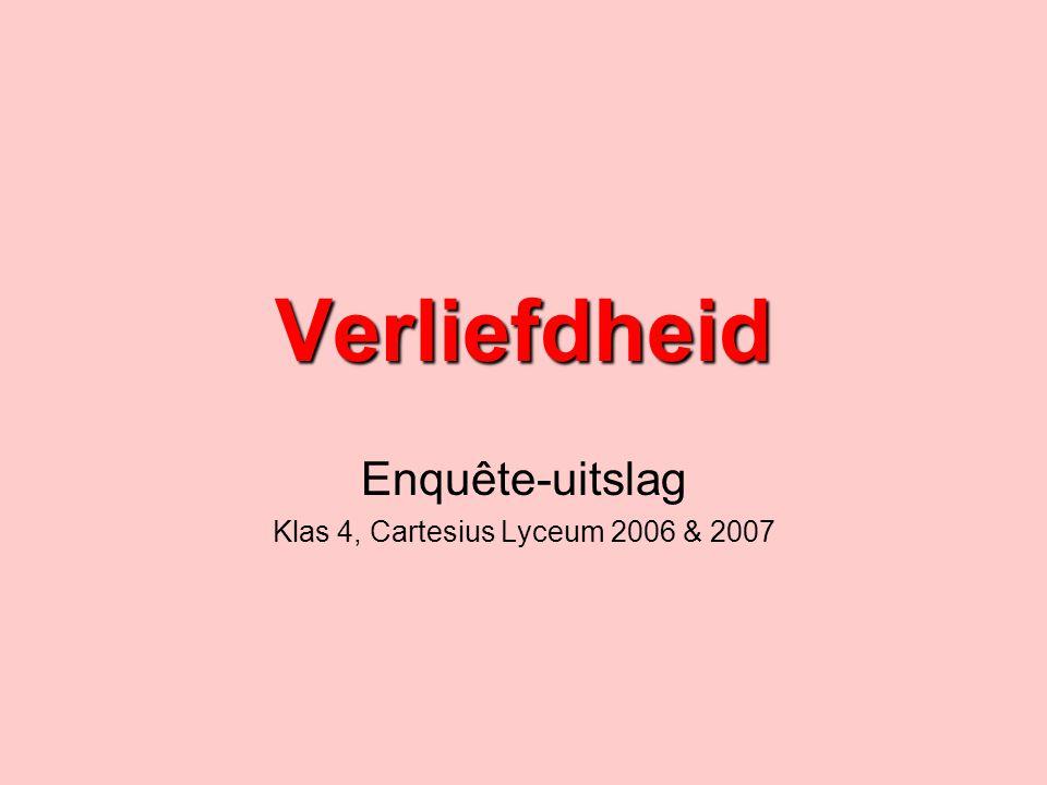 Enquête-uitslag Klas 4, Cartesius Lyceum 2006 & 2007