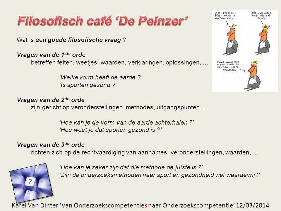 Filosofisch café 'De Peinzer'