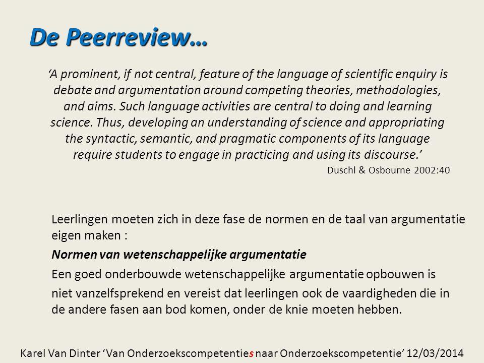 De Peerreview…