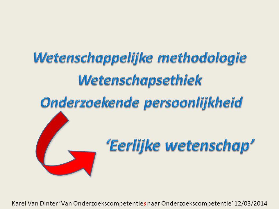 Wetenschappelijke methodologie Onderzoekende persoonlijkheid