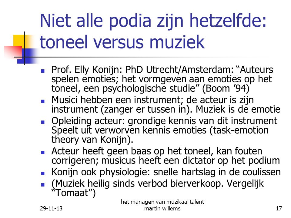 Niet alle podia zijn hetzelfde: toneel versus muziek