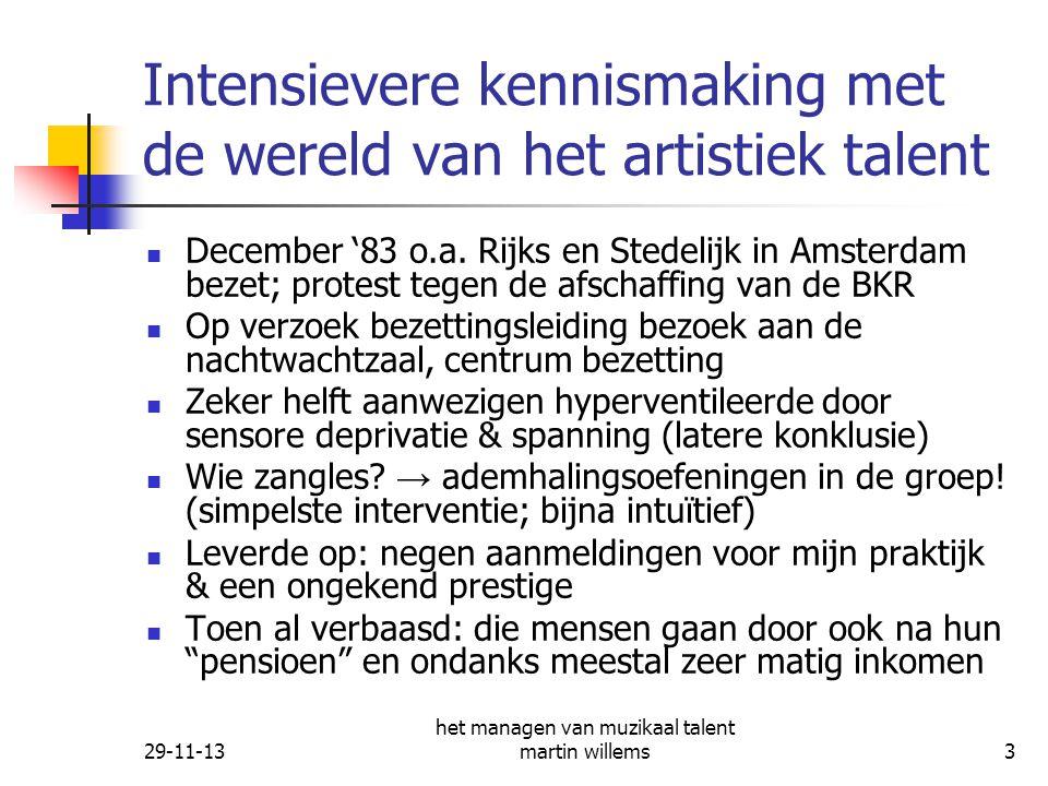 Intensievere kennismaking met de wereld van het artistiek talent