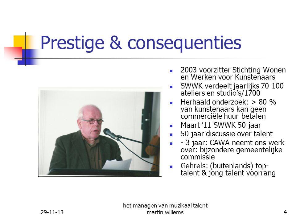 Prestige & consequenties