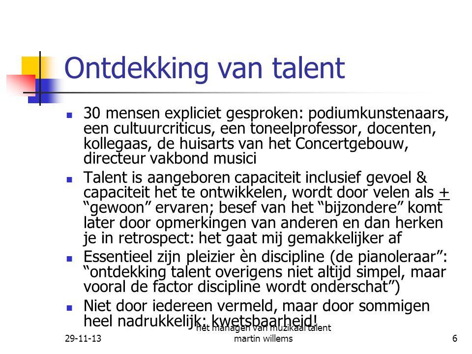 het managen van muzikaal talent martin willems