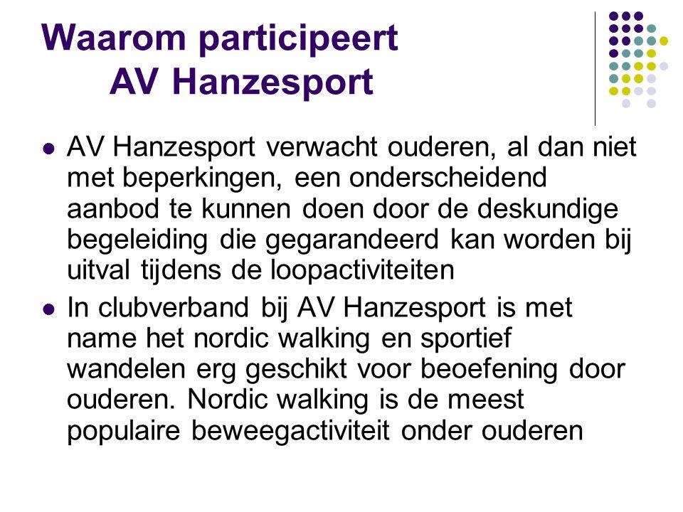 Waarom participeert AV Hanzesport