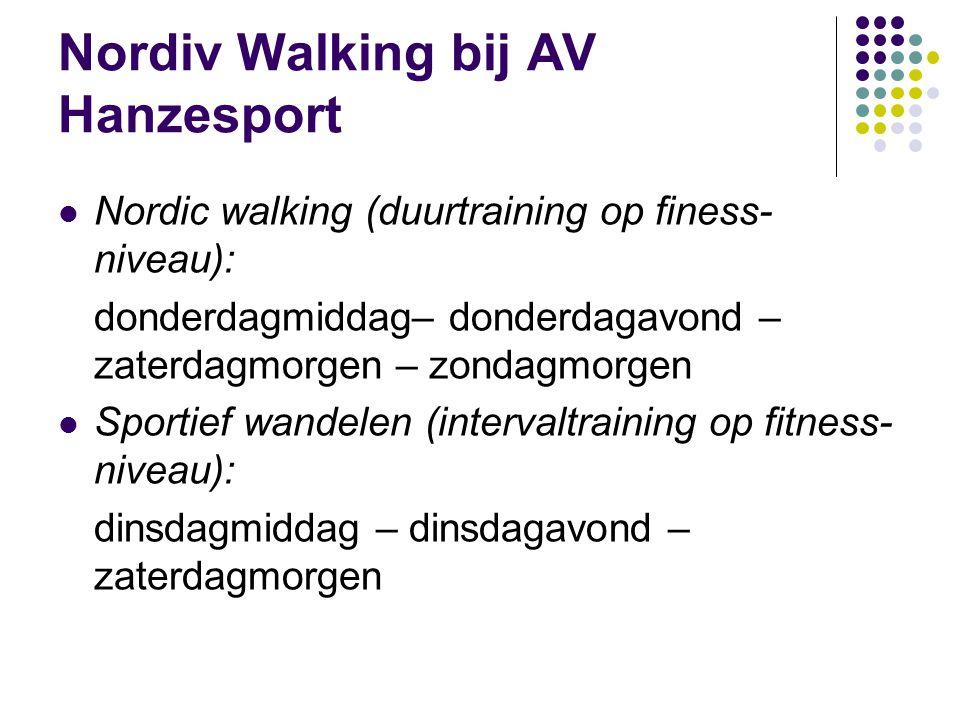 Nordiv Walking bij AV Hanzesport
