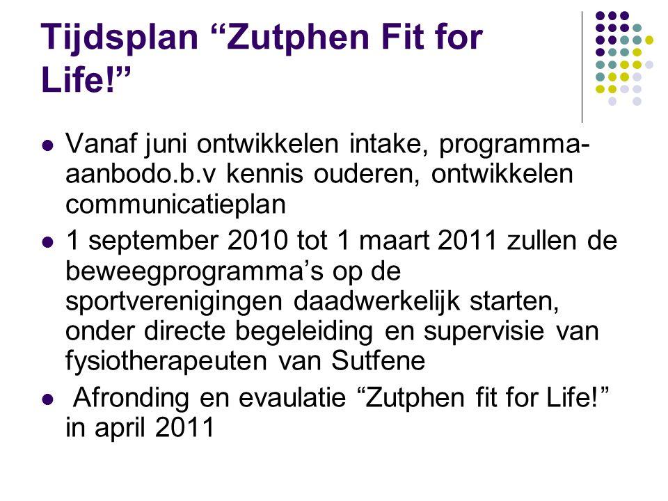 Tijdsplan Zutphen Fit for Life!