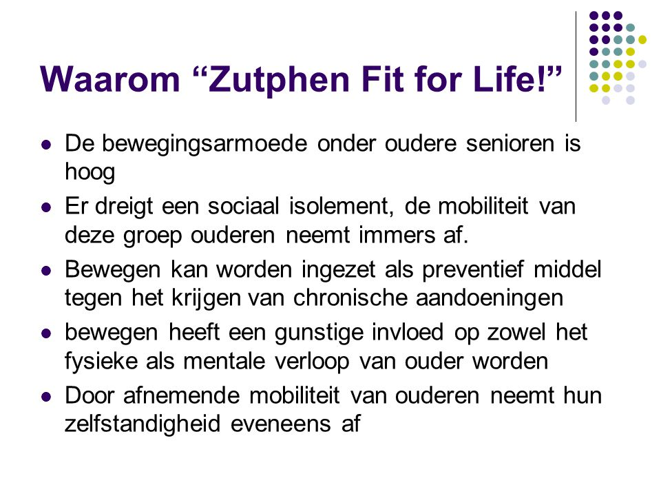 Waarom Zutphen Fit for Life!