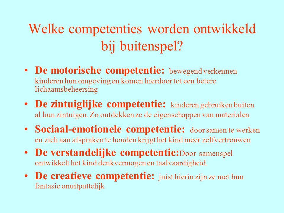 Welke competenties worden ontwikkeld bij buitenspel