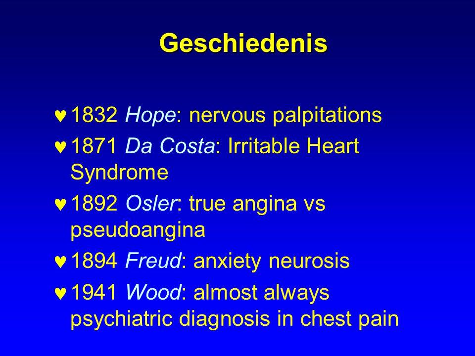 Geschiedenis 1832 Hope: nervous palpitations